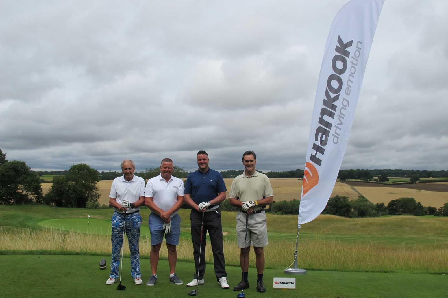 Watling Tyre's Patrick Laming and Nigel Payne at the Hankook Golf Classic