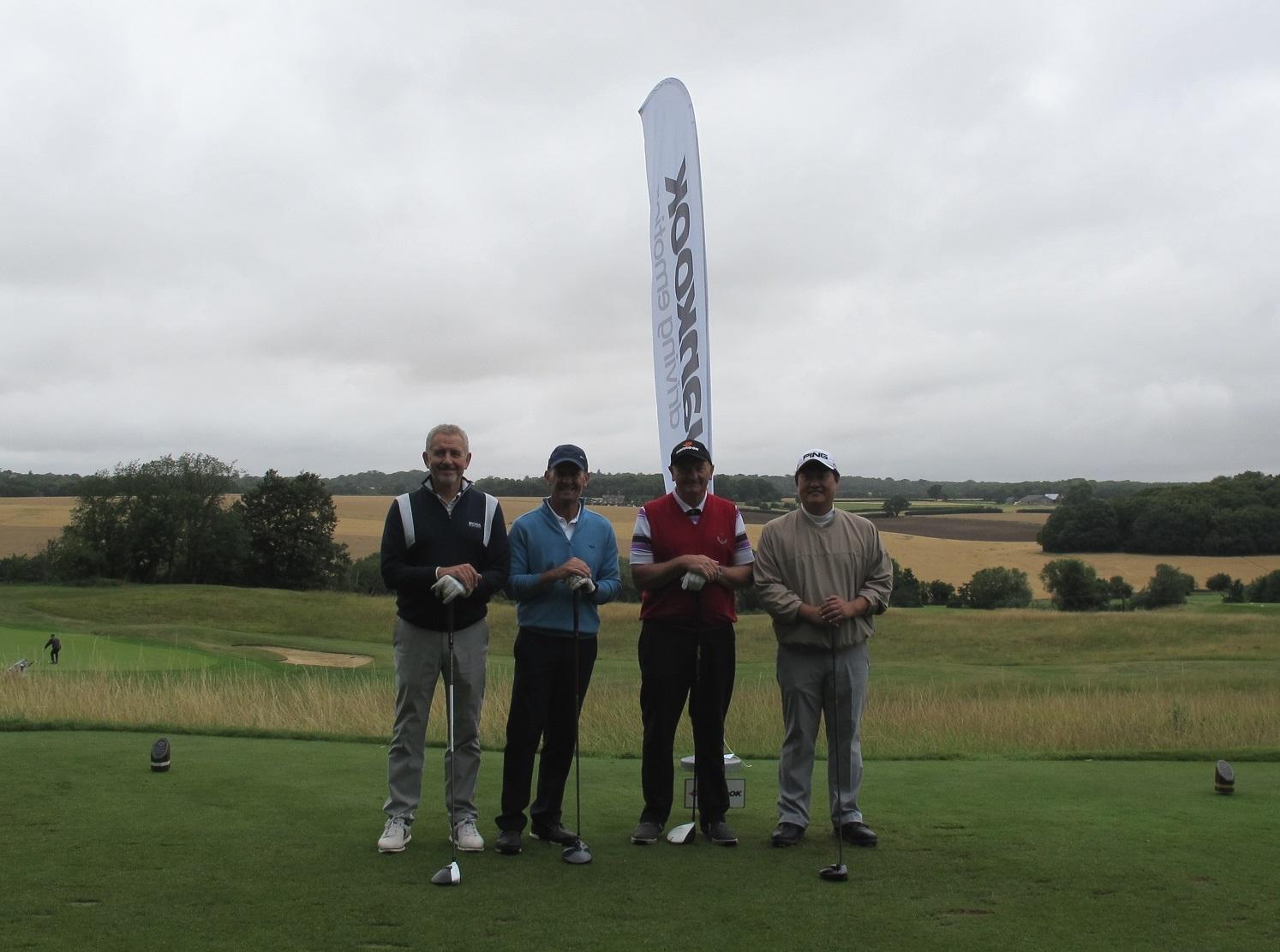 Jong Jin Park, Managing Director at Hankook Tyre UK (far right) at the Hankook Golf Classic